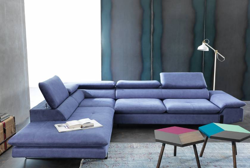 Philadelphia Blue modern corner sofa cool design for living room