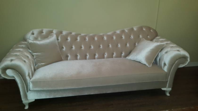 pink cream luxury chesterfield sofa loveseat