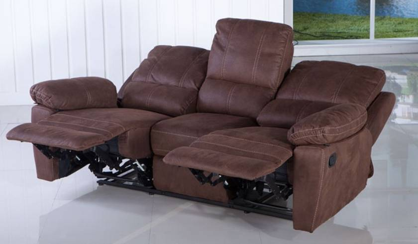Reclining couch 3 seater recliner sofa recliner couch set