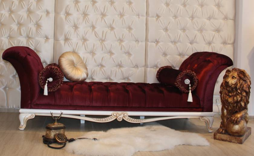 Red Bench chaise lounge luxury bedroom decoration