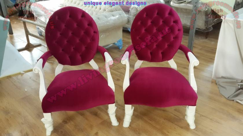 Red Elegant Couple Chairs Design unique luxury interior designs