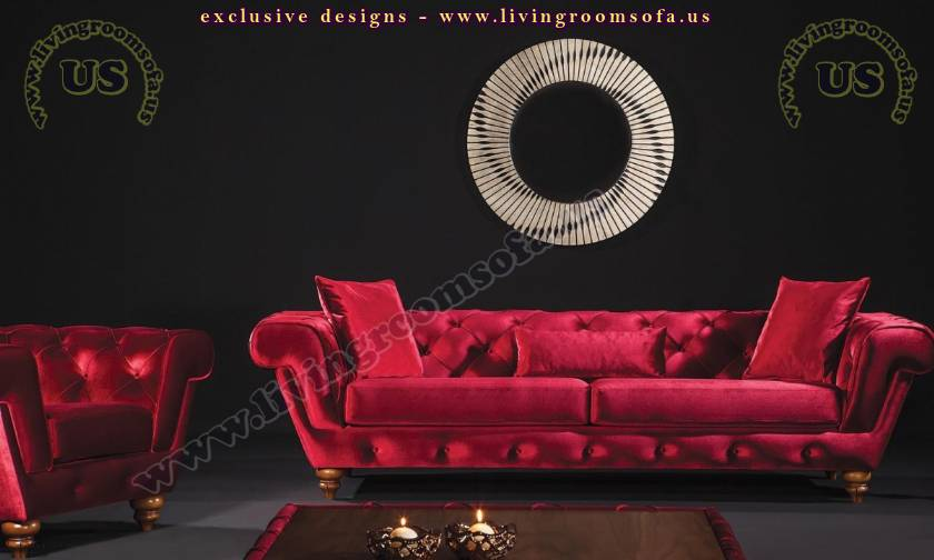 red elegant modern traditional living room sets