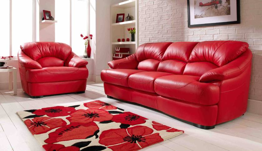 Red Leather Sofa Scandinavian designs leather sofas