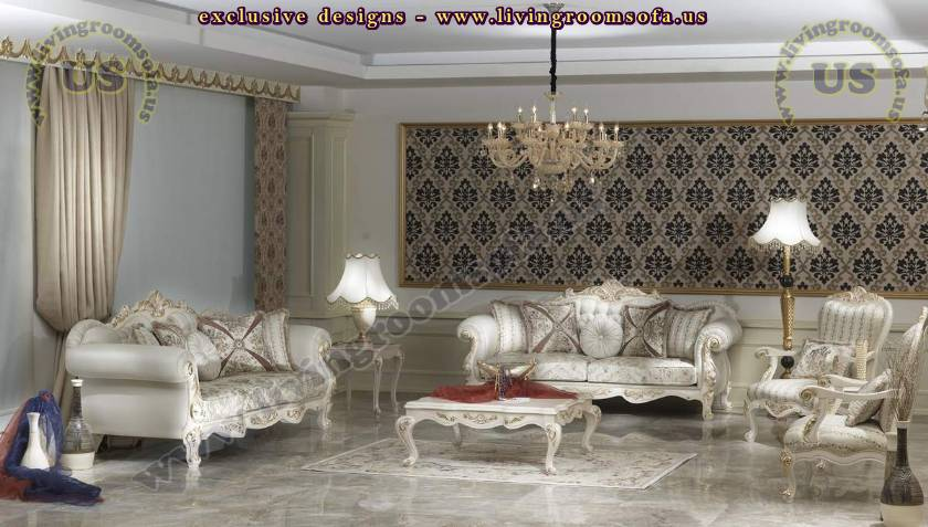 Retro Living Room Design Classical Sofa Set Part 83