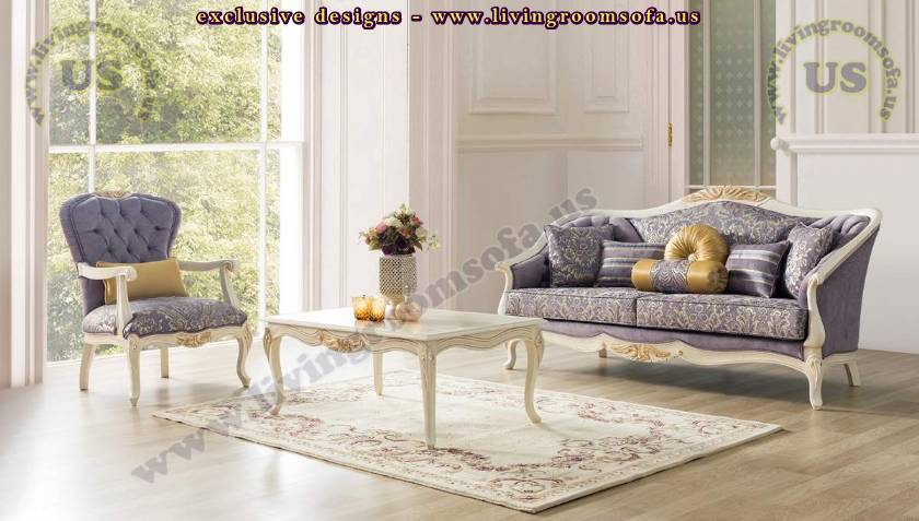 retro modern classical living room set