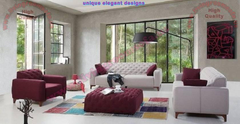 Retro Modern Sofa set for living room quilting works