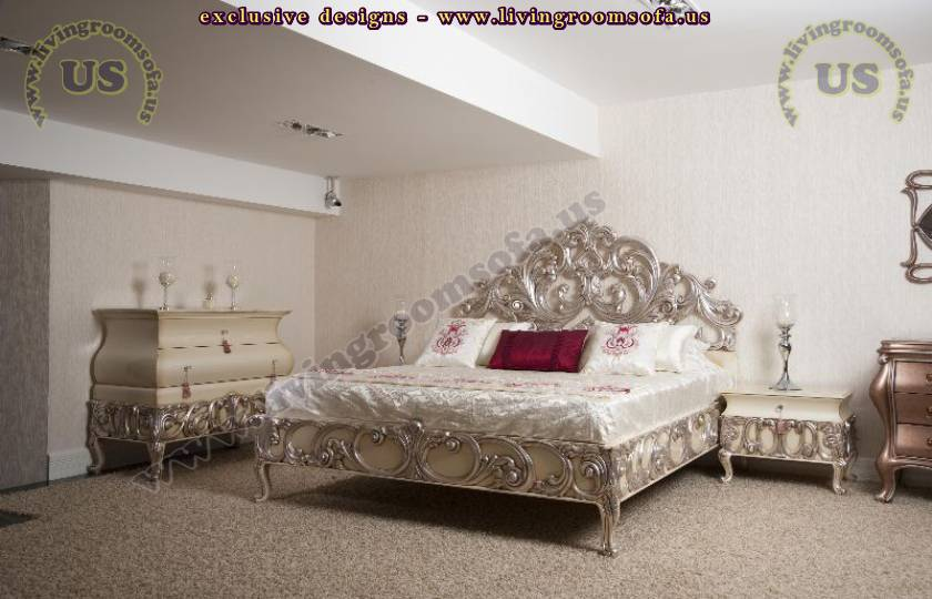 Silver Luxury Bedroom Design French Boudoir Bedroom Ideas