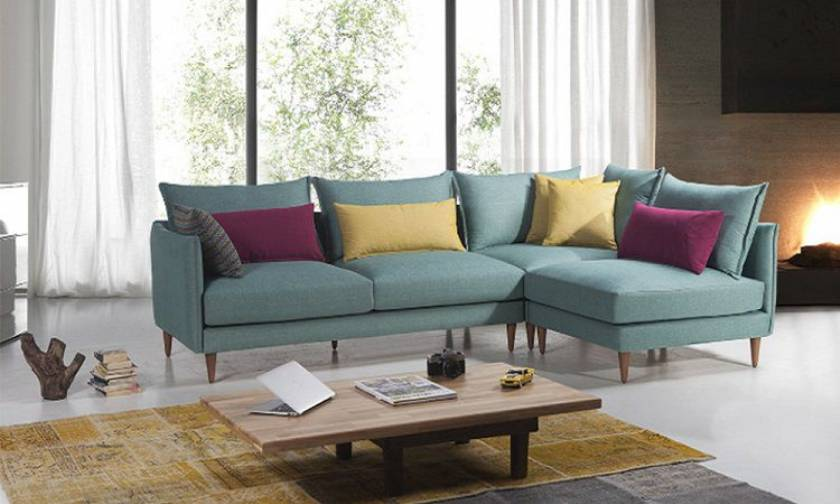 Sky Blue Modern Corner Sofa Lovely Sofa for small spaces