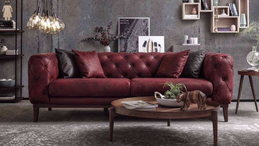 Sliced Leather Sofa New Modern style luxury living room sofa
