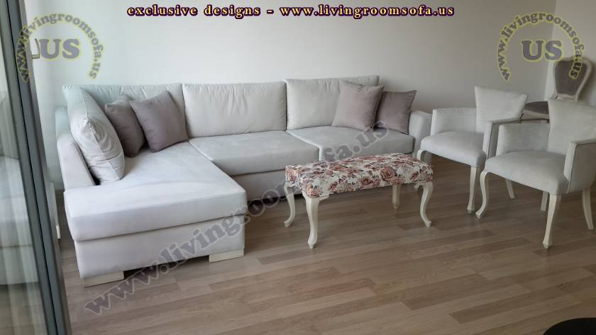 V shaped modern sectional sofa largest design - Exclusive ...