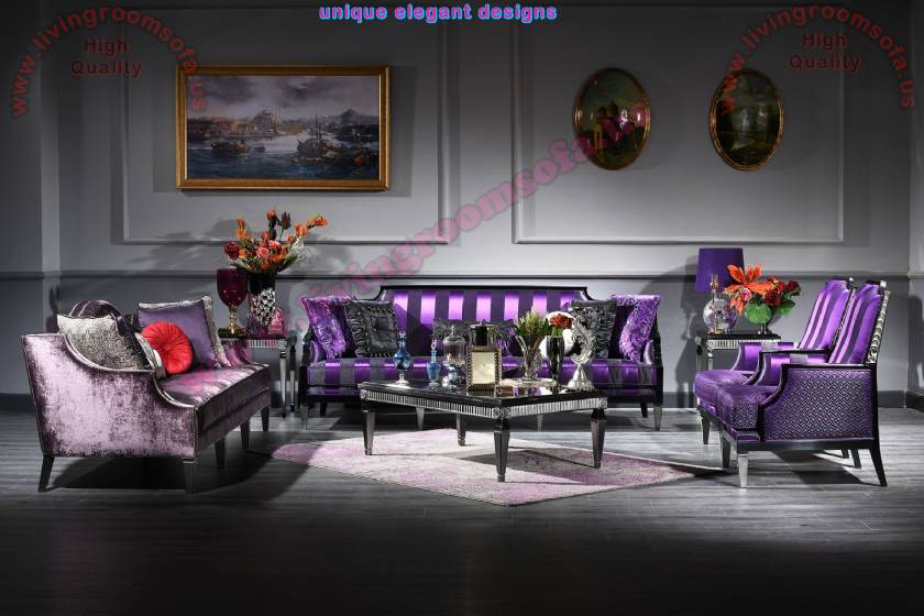 Thanksgiving Living Room Design Luxury Art Decor Sofa Set