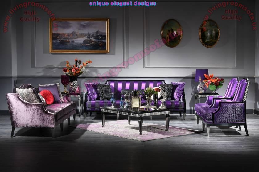 Thanksgiving Living Room Design Luxury Art Decor Sofa Set