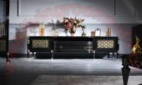 art deco luxury tv stand mixing traditional and modern