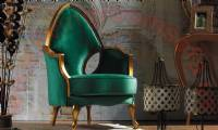 beautiful chair design green traditional
