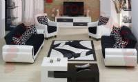 black and white modern living room design