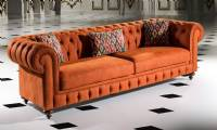 Brown Leather Chesterfield Sofa Luxury UK Style Chesterfield