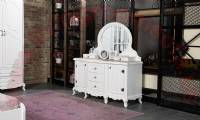 Classic chest of drawers White Lacquer with mirrored
