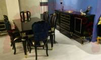 Classic Dinin Room Dinin Table chairs and dining console black design