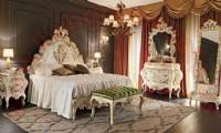 Classic lovely bedroom decorated with collected