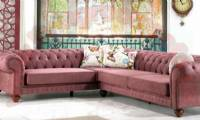 classic sectional chesterfield sofa pink fabric l shaped