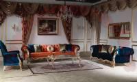 Curved Velvet Chesterfield Sofa design 2018 new