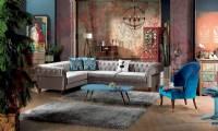 elegant living room design idea sectional chesterfield l shaped