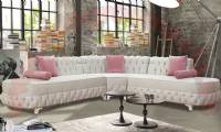 Fiesta L Shaped Chesterfield Sofa design white interiors