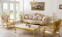 Gold überzogen Princess klassisches Sofagarnitur