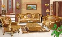Golden Velvet Classic Living Room Sofa Set Design Ideas Gorgeous Living Room