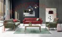 leather chesterfield sofa design red and green leather