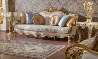 Luxurious Living Room Sofa Furniture The beautiful shape of the matching