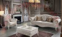 Luxurious Velvet Chesterfield Sofa Sets Tufted Classical Living Room Spaces