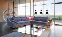 Luxury modern gray sectional sofa contemporary and modern living room