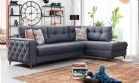 Luxury sectional sofa San Francisco small spaces L shape can convert in bed