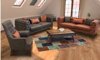 Modern Chesterfield Sofa Set New Italian Design Luxury Living Room