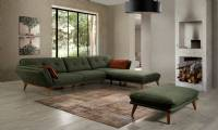 modern corner sofa L shaped sectional corner sofa with pouf