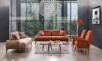 modern leather sofa set modern living room ideas with brown fabrics