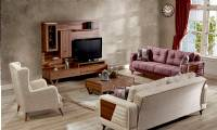 Modern living room with TV units and sofa bed sets small spaces