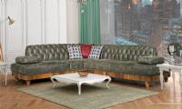 modern luxury chesterfield corner sofa dark green living room corner sofa