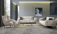 Moderne Wohnlandschaft Ledersofa Modern Chesterfield Sofa Design