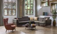 New Orleans modern tufted corner sofa luxury modern corner sofa