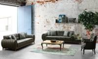 New Style Luxury leather sofa set european designs