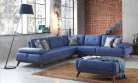 New Style Modern Corner Sofa with beds and pouf