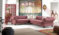 Ontairo L Shaped Luxury Chesterfield Sofa Mixing design
