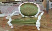 Princess Chair White and Green Elegant Chair Design