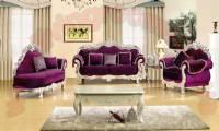 Purple velvet classic sofa design fabulous living room