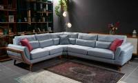 Royal modern sectional sofa for living room wooden L spahe new style