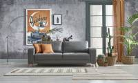 Slate gray modern couch Modern Small space sofas