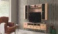 Wooden modern luxury TV Stand and Wall Unit Living Room furniture