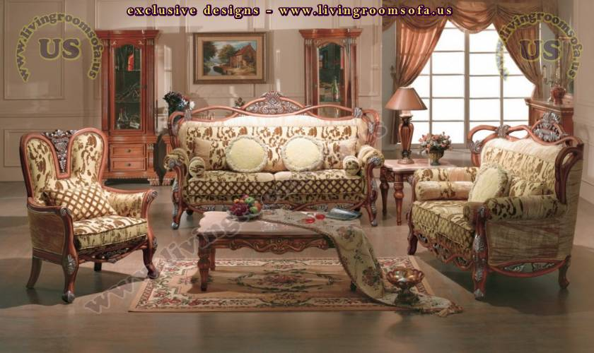traditional living room sets elegant classical sofa - Exclusive ...